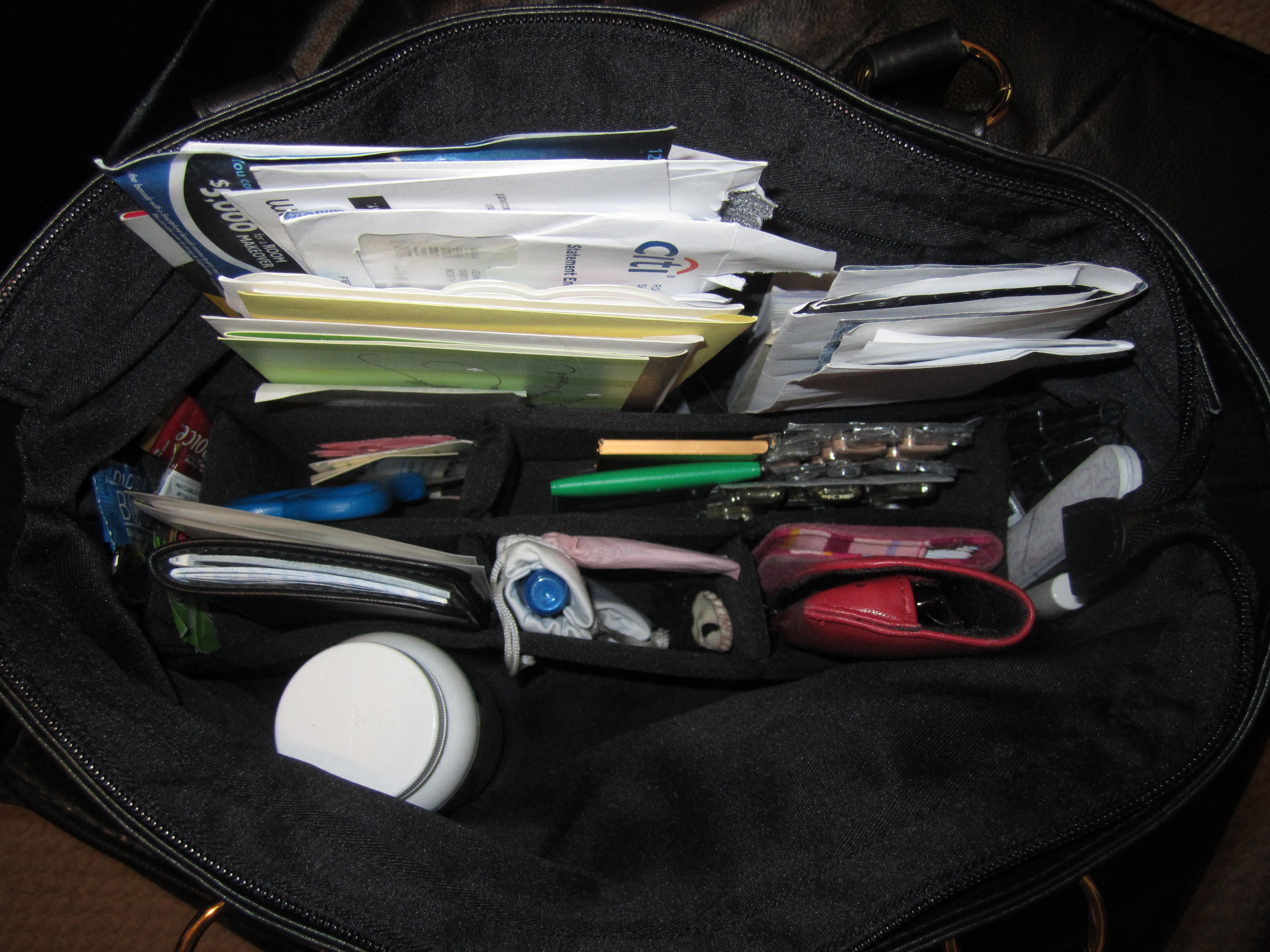 butler bag Compartmentalized Handbag