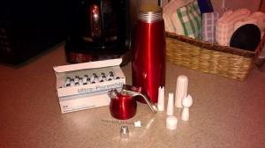 Whip cream dispenser