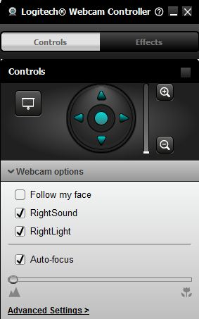 webcam controls