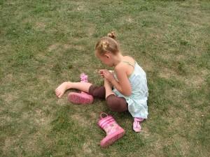 pink raint boots