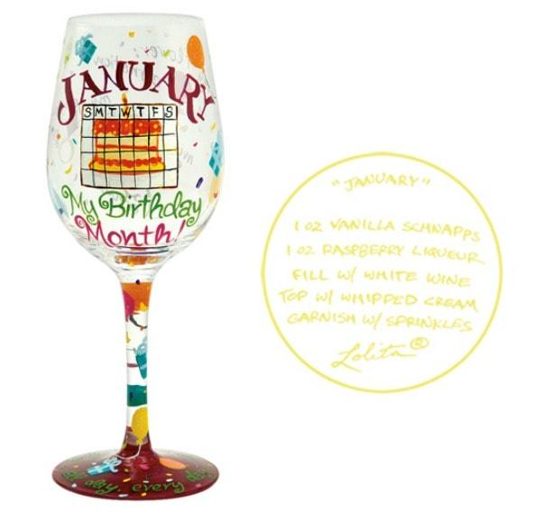 Designs by Lolita Love My Birthday Month Wine Glass