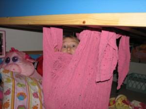 pink blanket pod