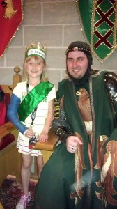 Chesney with her knight