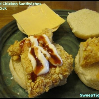 Breaded Chicken Sandwiches with a Kick Recipe