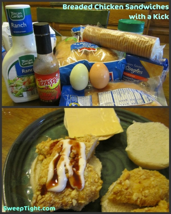 breaded chicken sandwiches