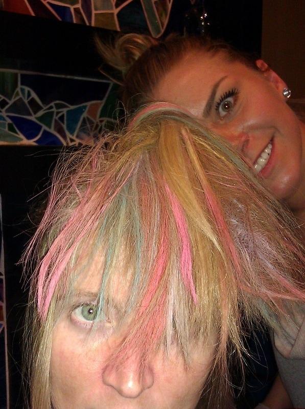 hair chalking fun