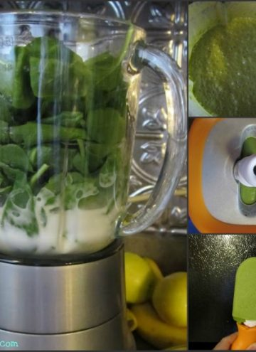zoku quick pop maker with spinach smoothie