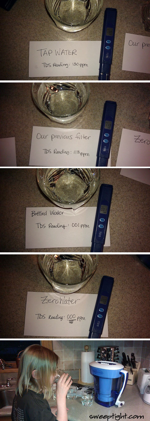 Clean drinking water test