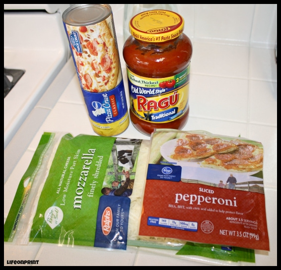 ingredients for pizza roll ups