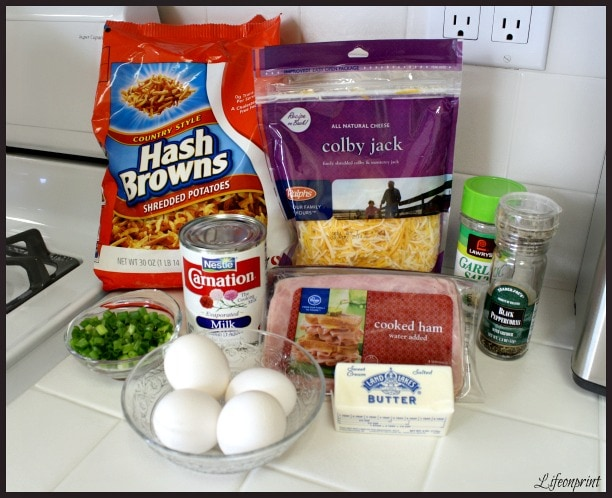 Ingredients for Breakfast casserole