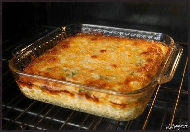 cooking casserole