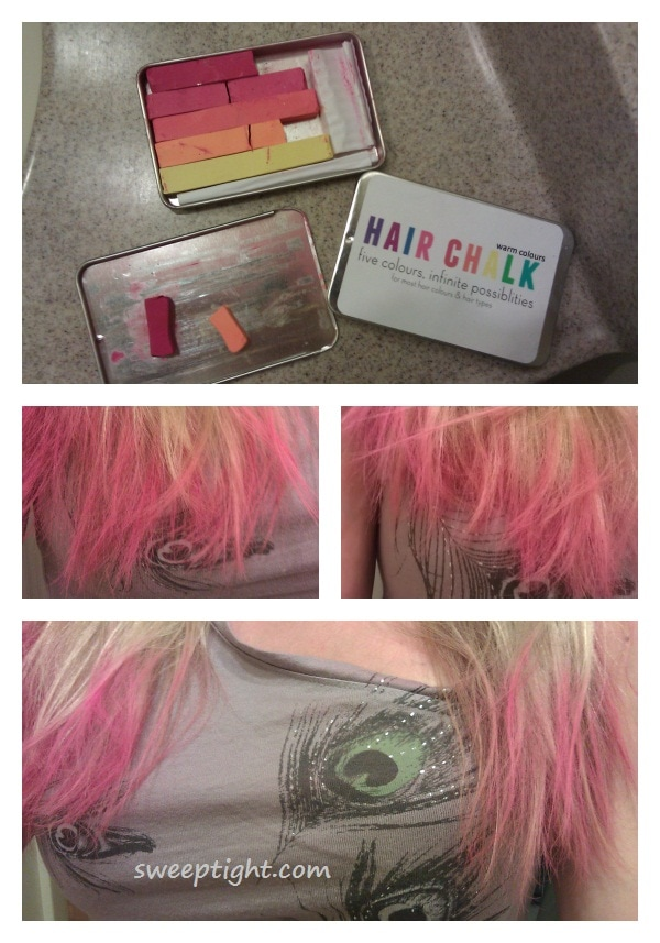 hair chalk chalking