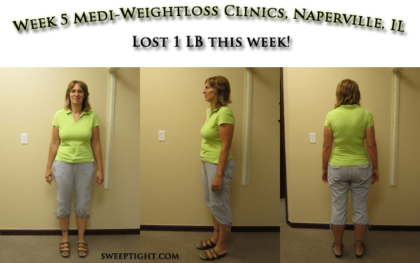Weight Loss Event week 5 Results for Jodi