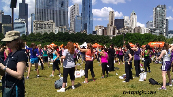 Workout in the Park Self Magazine Chicago