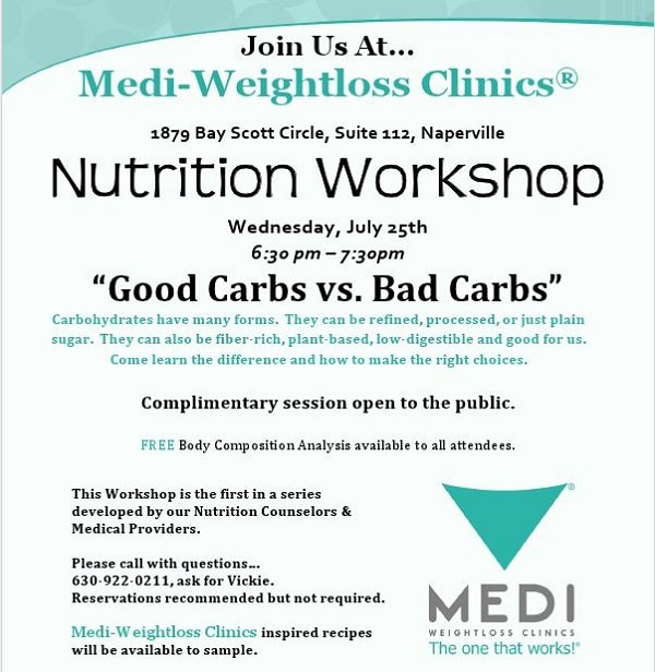 nutrition workshop good carbs vs. bad carbs