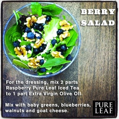 tea in salad dressing summer entertaining