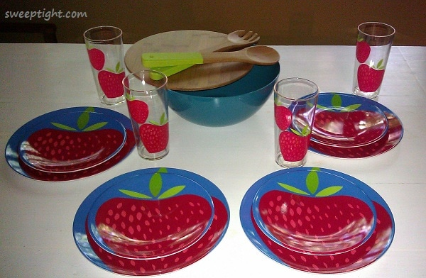 strawberry plates from Target