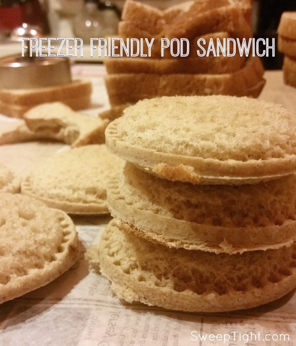 Freezer friendly pod sandwich recipe perfect for back to school lunches