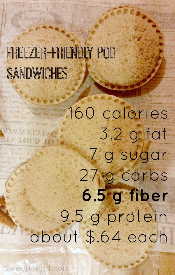 Freezer friendly pod sandwiches recipe perfect for back to school lunches