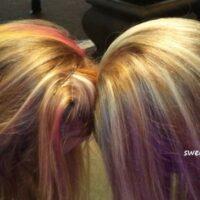Headbutting Hair Chalk style