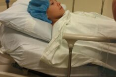 Going in for surgery like a champ
