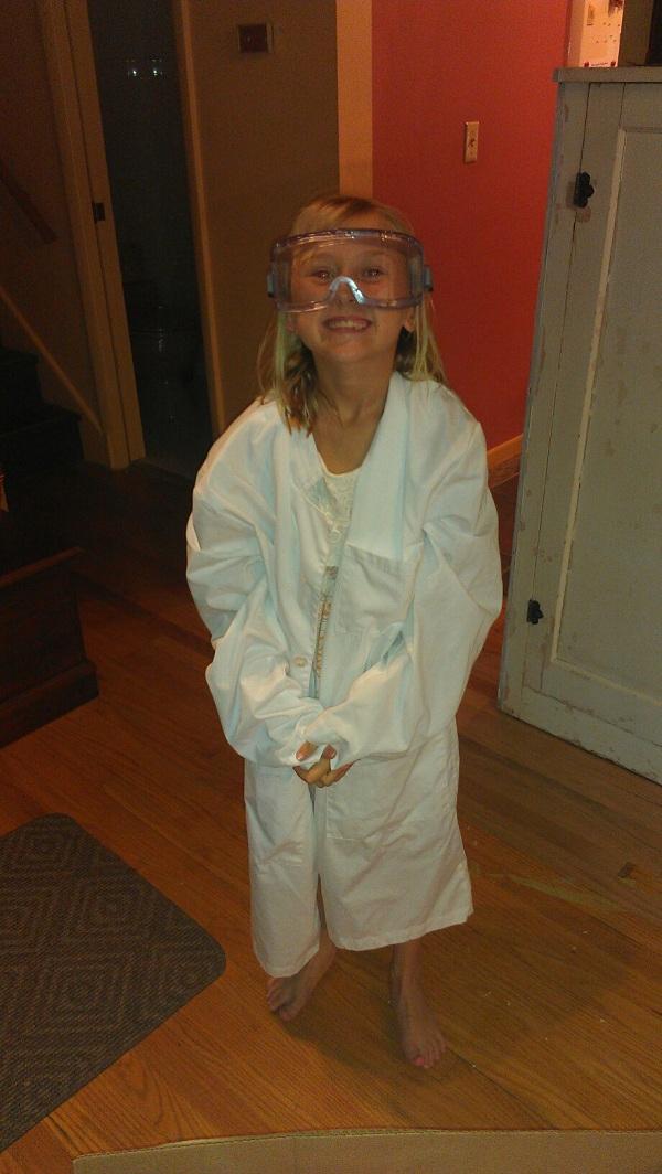 adorable school scientist
