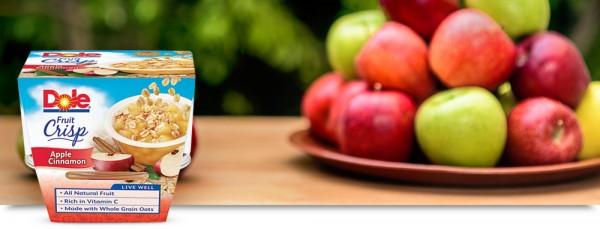 Apple Cinnamon Fruit Crisp snack