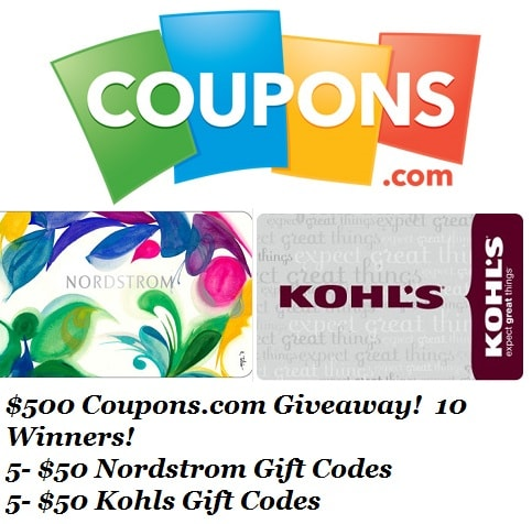 Thank You To Gram and Coupons.com Giveaway