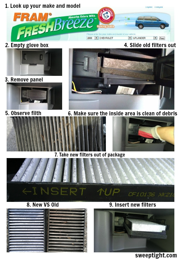 DIY FRAM Cabin Air Filters