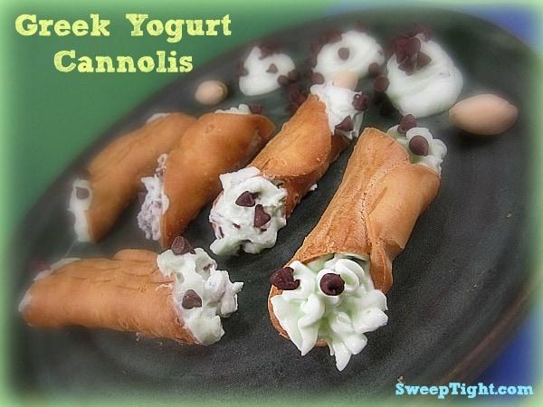 Greek Yogurt and Pudding Cannoli Recipe