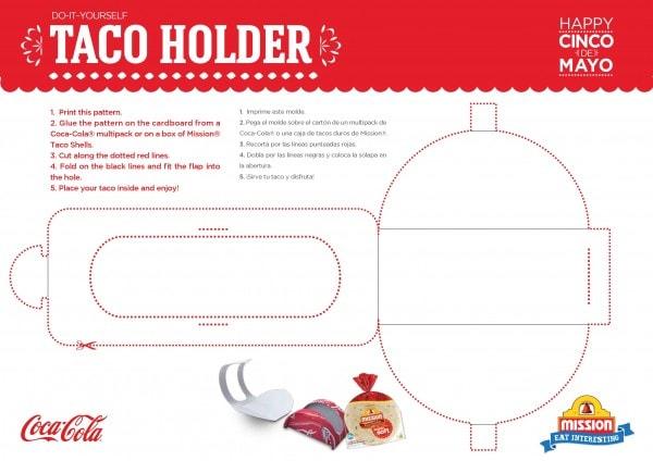 Taco Holder DIY Cinco de Mayo