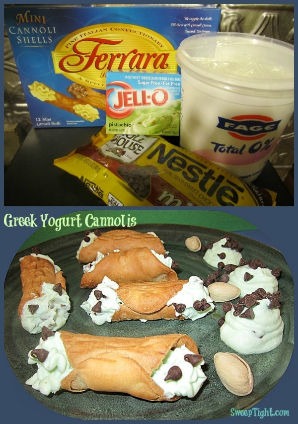 Greek Yogurt and Pudding Cannoli Recipe
