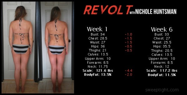 fitness challenge back week 6