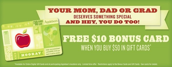 bonus gift card at applebees