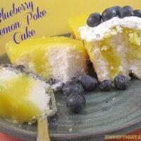 Blueberry Lemon Poke Cake Recipe