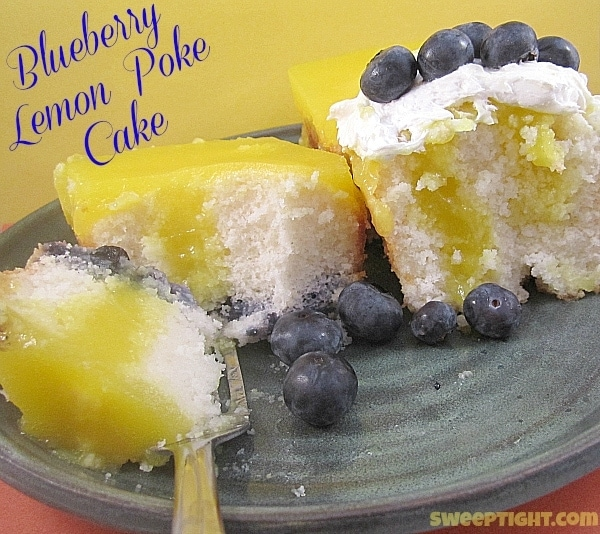 Poke Cake Recipe with Lemon and Blueberries from Mariano's