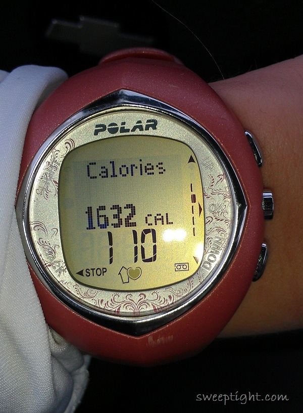 caloires lost while running 13.3 miles