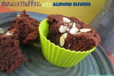 Nutella Muffins with Almond Slivers