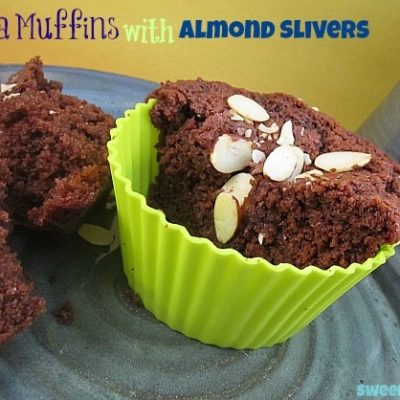 Nutella Muffins with Greek Yogurt and Almonds Recipe