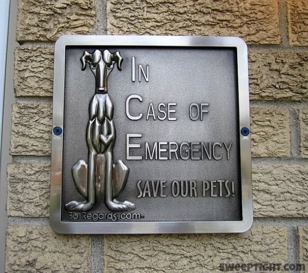 In Case of Emergency Save our Pets
