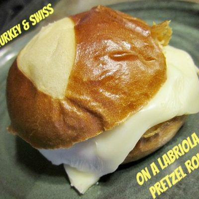 Turkey Sandwich on Labriola Pretzel Rolls