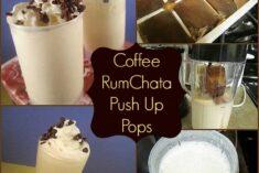 Coffee Rumchata push up pops
