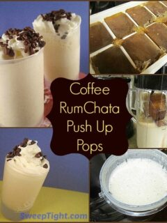Coffee Rumchata push up pops