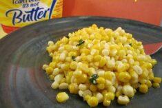 Basil Corn Recipe Using I Can't Believe It's Not Butter