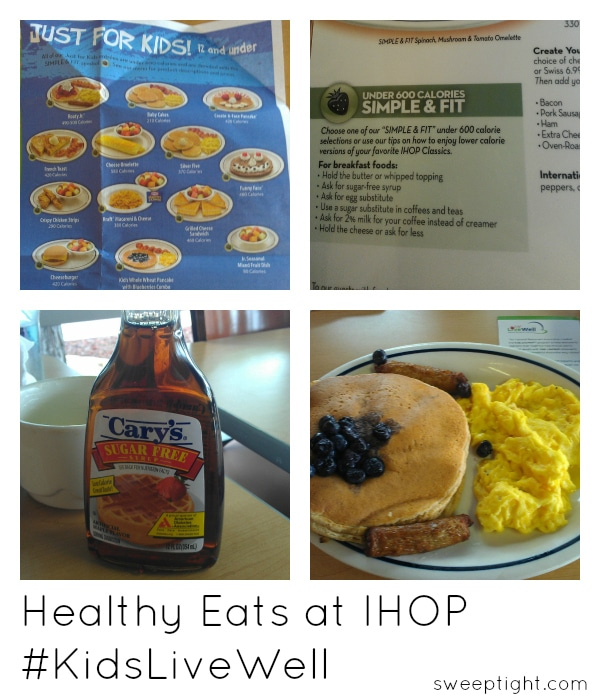 kids eat healthy options at IHOP