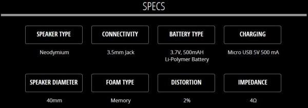 Flips headphone speakers specs