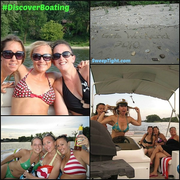 girls weekend boating