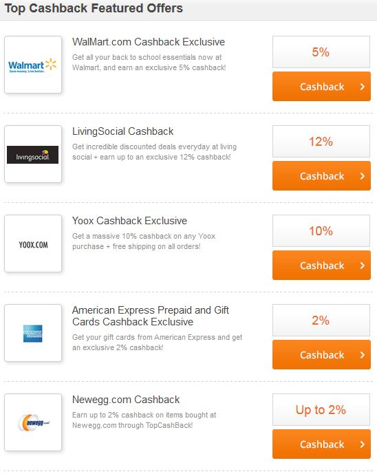 Most Generous Cash Back Site