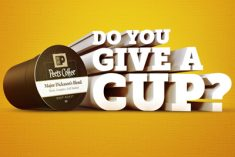 give a cup