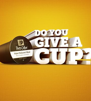 Give a Cup with Peet's Coffee